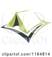 Clipart Of A Green Camping Tent 4 Royalty Free Vector Illustration by Vector Tradition SM