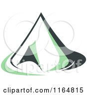 Clipart Of A Green Camping Tent 3 Royalty Free Vector Illustration