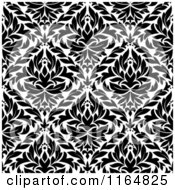 Clipart Of A Black And White Triangular Damask Pattern Seamless Background 28 Royalty Free Vector Illustration