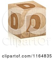Clipart Of A Brown Grungy Letter D Cube Royalty Free Vector Illustration