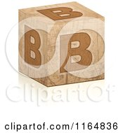 Clipart Of A Brown Grungy Letter B Cube Royalty Free Vector Illustration