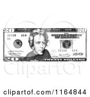 Black And White Twenty Dollar Bill