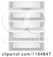 Clipart Of A 3d Book Shelf Royalty Free Vector Illustration