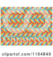 Clipart Of A Black And White Weaved Colorful Lines Pattern Royalty Free Vector Illustration
