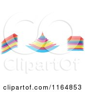 Clipart Of Shapes Made Of Colorful Layers Royalty Free Vector Illustration