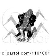 Black And White Horoscope Zodiac Astrology Aquarius Water Bearer And Sybmol