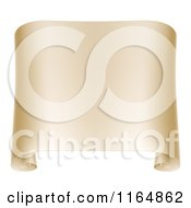 Clipart Of A Paper Scroll With Curled Edges Royalty Free Vector Illustration