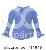 Womans Blue Jacket Clipart Picture