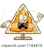 Cartoon Of A Nacho Mascot With An Idea Royalty Free Vector Clipart by Cory Thoman