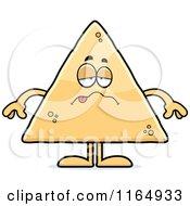 Cartoon Of A Sick Tortilla Chip Mascot Royalty Free Vector Clipart