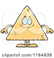 Cartoon Of A Happy Tortilla Chip Mascot Royalty Free Vector Clipart by Cory Thoman