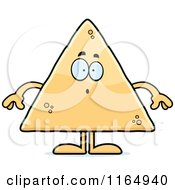 Cartoon Of A Surprised Tortilla Chip Mascot Royalty Free Vector Clipart