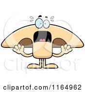 Cartoon Of A Screaming Mushroom Mascot Royalty Free Vector Clipart by Cory Thoman
