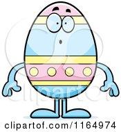 Surprised Easter Egg Mascot