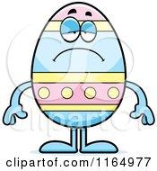 Depressed Easter Egg Mascot