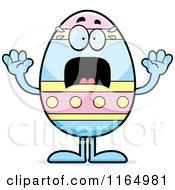 Screaming Easter Egg Mascot
