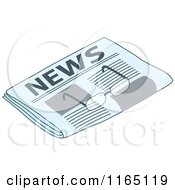Cartoon Of A Pair Of Glasses On A Newspaper Royalty Free Vector Clipart