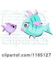 Purple And Blue Fish Talking