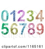 Clipart Of 3d Colorful Numbers Composed Of Small Digits Royalty Free CGI Illustration