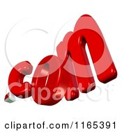 Clipart Of 3d Dot Com Text Royalty Free CGI Illustration