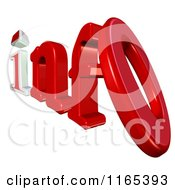 Clipart Of 3d Info Text Royalty Free CGI Illustration