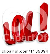 Clipart Of 3d LOL Text Royalty Free CGI Illustration