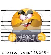 Cartoon Of A Mugshot Emoticon Smiley Royalty Free Vector Clipart