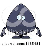 Cartoon Of A Surprised Spade Card Suit Mascot Royalty Free Vector Clipart by Cory Thoman