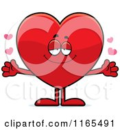 Cartoon Of A Loving Red Heart Card Suit Mascot Royalty Free Vector Clipart