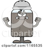 Cartoon Of A Mad Pepper Shaker Mascot Royalty Free Vector Clipart