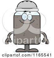 Cartoon Of A Happy Pepper Shaker Mascot Royalty Free Vector Clipart