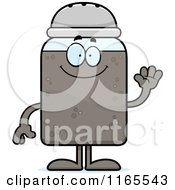 Cartoon Of A Waving Pepper Shaker Mascot Royalty Free Vector Clipart