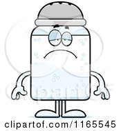 Cartoon Of A Depressed Salt Shaker Mascot Royalty Free Vector Clipart