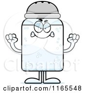 Cartoon Of A Mad Salt Shaker Mascot Royalty Free Vector Clipart