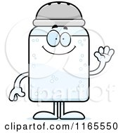 Cartoon Of A Waving Salt Shaker Mascot Royalty Free Vector Clipart