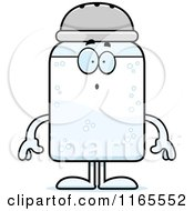 Cartoon Of A Surprised Salt Shaker Mascot Royalty Free Vector Clipart