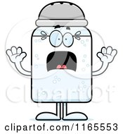 Cartoon Of A Scared Salt Shaker Mascot Royalty Free Vector Clipart