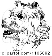 Clipart Of A Retro Vintage Black And White Terrier Dog Royalty Free Vector Illustration by Prawny Vintage