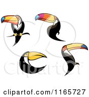 Clipart Of Toucan Birds Royalty Free Vector Illustration by Vector Tradition SM