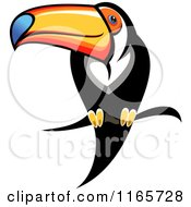 Clipart Of A Perched Toucan Bird Royalty Free Vector Illustration by Seamartini Graphics