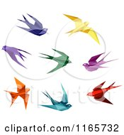 Clipart Of Origami Hummingbirds 4 Royalty Free Vector Illustration by Vector Tradition SM