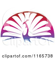 Clipart Of A Colorful Peacock Royalty Free Vector Illustration