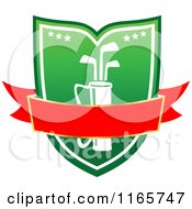 Clipart Of A Green And Red Heraldic Golf Design 6 Royalty Free Vector Illustration