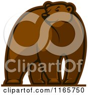 Clipart Of A Brown Bear Glancing Royalty Free Vector Illustration by Seamartini Graphics