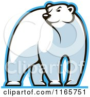 Clipart Of A Polar Bear Glancing Royalty Free Vector Illustration