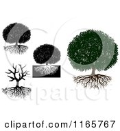 Clipart Of Trees And Roots Royalty Free Vector Illustration by Vector Tradition SM