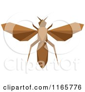 Clipart Of A Brown Origami Wasp Royalty Free Vector Illustration by Vector Tradition SM