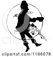 Clipart Of A Silhouetted Man In Front Of The Moon Royalty Free Vector Illustration by Prawny Vintage