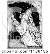 Clipart Of Retro Vintage Black And White Wise Men Bearing Gifts Royalty Free Vector Illustration by Prawny Vintage