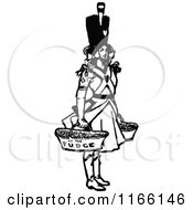 Clipart Of A Retro Vintage Black And White Soldier Girl Selling Fudge Royalty Free Vector Illustration by Prawny Vintage